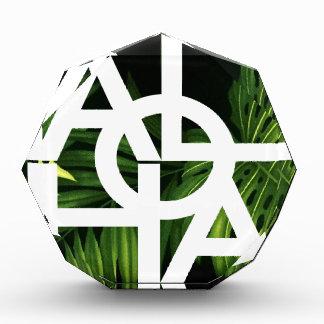 Aloha White Graphic Hawaii Palm Award