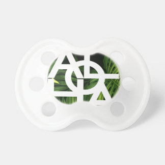 Aloha White Graphic Hawaii Palm Pacifier