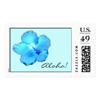 Aloha! Wild Blue Hibiscus ~ Stamps