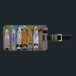 """Aloha Y&#39;All luggage tag<br><div class=""""desc"""">Add your info on the back and enjoy the awesome surfboard fence located on Baldwin Ave. between Paia and Makawao in upcountry on the wonderful island of Maui Hawaii. Image Copyright&#169; DJFlorek all rights reserved.</div>"""