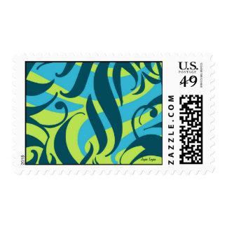 Aloha You, lime aqua splash, Postage & Cards