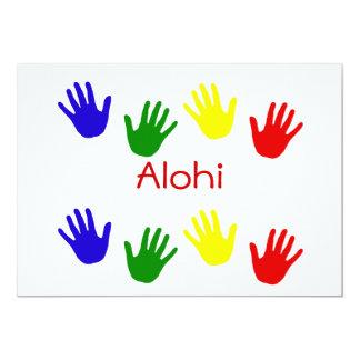 Alohi 5x7 Paper Invitation Card