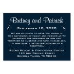 Alojamiento náutico del boda - tarjetas de la tarjetas de visita