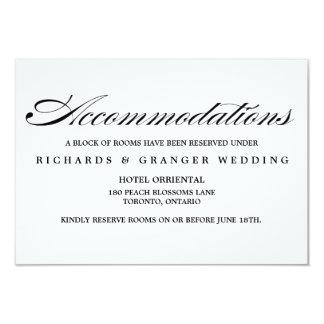 """Alojamientos elegantes del boda de la escritura de invitación 3.5"""" x 5"""""""