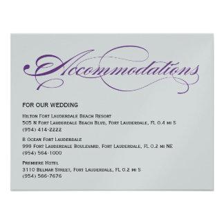 Alojamientos elegantes del boda de la escritura - comunicado