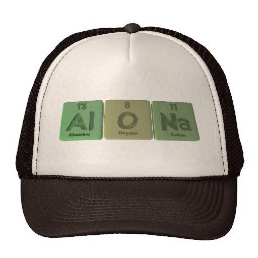 Alona como sodio de aluminio del oxígeno gorros bordados