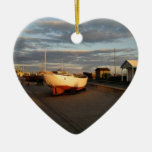 Alondra del barco de pesca ornamento para reyes magos
