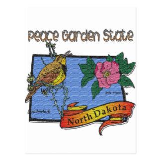 Alondra del estado jardín de la paz de Dakota del  Postales