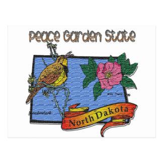 Alondra del estado jardín de la paz de Dakota del  Postal