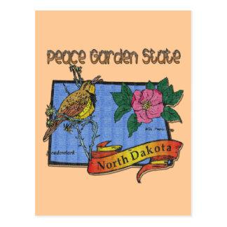 Alondra del estado jardín de la paz de Dakota del  Tarjetas Postales