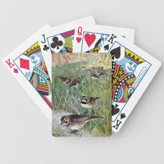 Alondras de cuernos en un prado baraja cartas de poker