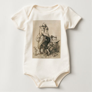 Alone at Last Enfin Seuls World War I Drawing Baby Bodysuit
