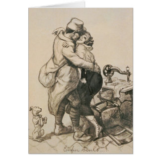 Alone at Last Enfin Seuls World War I Drawing Card