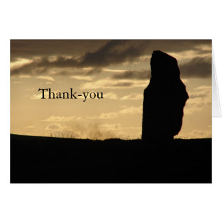 Alone at Sunset Thank-you card