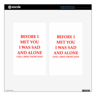 ALONE DECALS FOR KINDLE FIRE