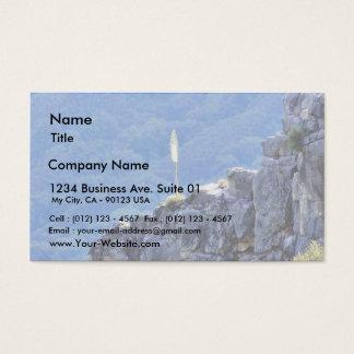 Alone Flower On Cliffs Business Card