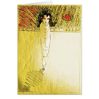 alone gold soul greeting cards