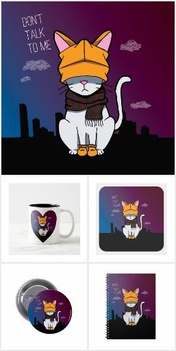Alone In A Big City Cartoon Cat