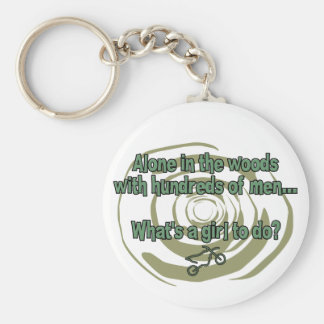Alone in the Woods Keychain