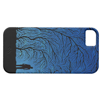 alone man in blue night iphone iPhone SE/5/5s case