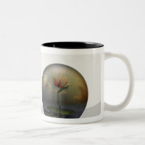 flower, alone, landscape, surreal, bird, paradise, digital art, gift, unique, magic, botanical, nature, brid of paradise, special, fairy, cool, fantasy, houk, Mug with custom graphic design