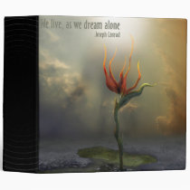 houk, flower, alone, we live, as we dream - alone, landscape, surreal, bird, paradise, digital art, gift, unique, magic, botanical, nature, brid of paradise, special, cool binder, surrealism, Binder with custom graphic design
