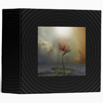 houk, flower, alone, landscape, surreal, bird, paradise, digital art, gift, unique, magic, botanical, nature, brid of paradise, special, cool binder, surrealism, Binder with custom graphic design
