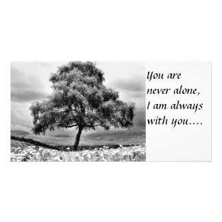 Alone, You are never alone I am always with you Card