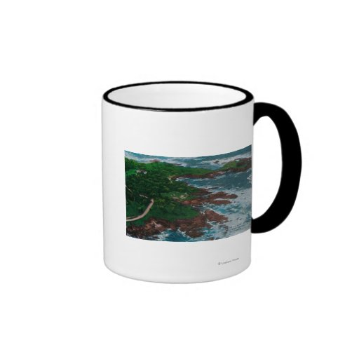 Along 17 Mile Drive on Monterey Peninsula Ringer Coffee Mug
