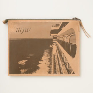 Along Balcony Row Monogrammed Travel Pouch