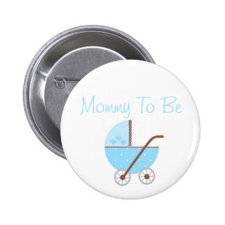 Along Came A Carriage Baby Shower Mommy To Be 2 Inch Round Button