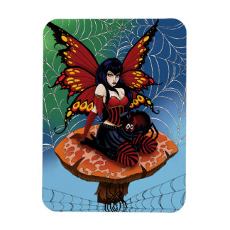 Along came a spider rectangular photo magnet