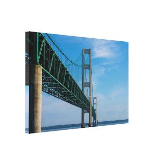 Along Mackinac Bridge Canvas Print