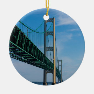 Along Mackinac Bridge Ceramic Ornament