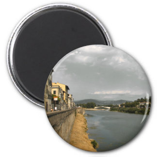 Along the Arno 2 Inch Round Magnet