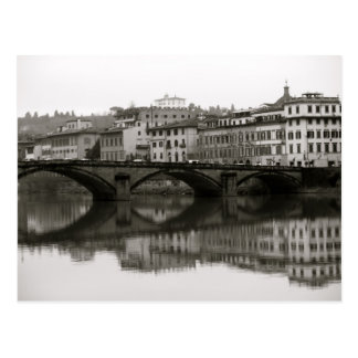 Along the Arno in Florence, Italy Postcard