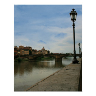 Along the Arno River Poster
