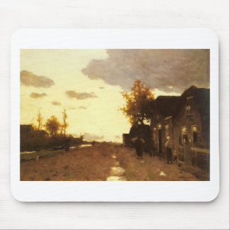 Along the Canal by Johan Hendrik Weissenbruch Mouse Pad