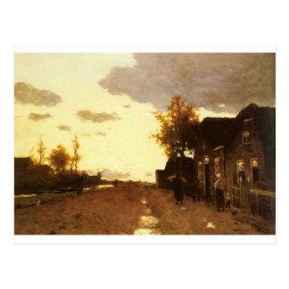 Along the Canal by Johan Hendrik Weissenbruch Postcard