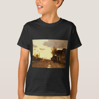Along the Canal by Johan Hendrik Weissenbruch T-Shirt
