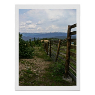 Along the Fence Poster