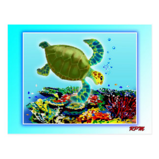 Along the Great Barrier Reef Postcard