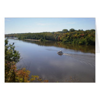 Along the Mighty Mississippi River Card