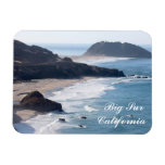 Along the Pacific Coast Highway in Big Sur Rectangle Magnets