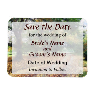 Along the Path Under the Trees Save the Date Magnet