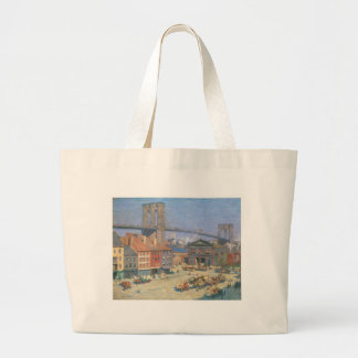 Along the River Front New York circa 1912 Canvas Bags