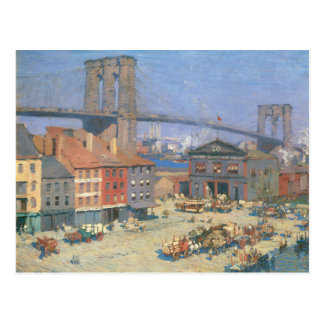 Along the River Front, New York Postcard