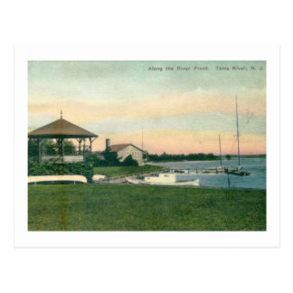 Along the River Front, Toms River, NJ Vintage Postcard