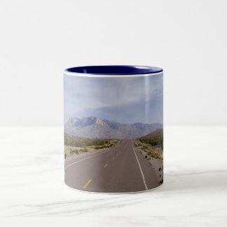 Along the Road - El Capitan, Guadalupe Mountains Two-Tone Coffee Mug