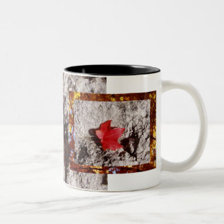 Along the Road (Mug) - Red Maple Leaf Two-Tone Coffee Mug